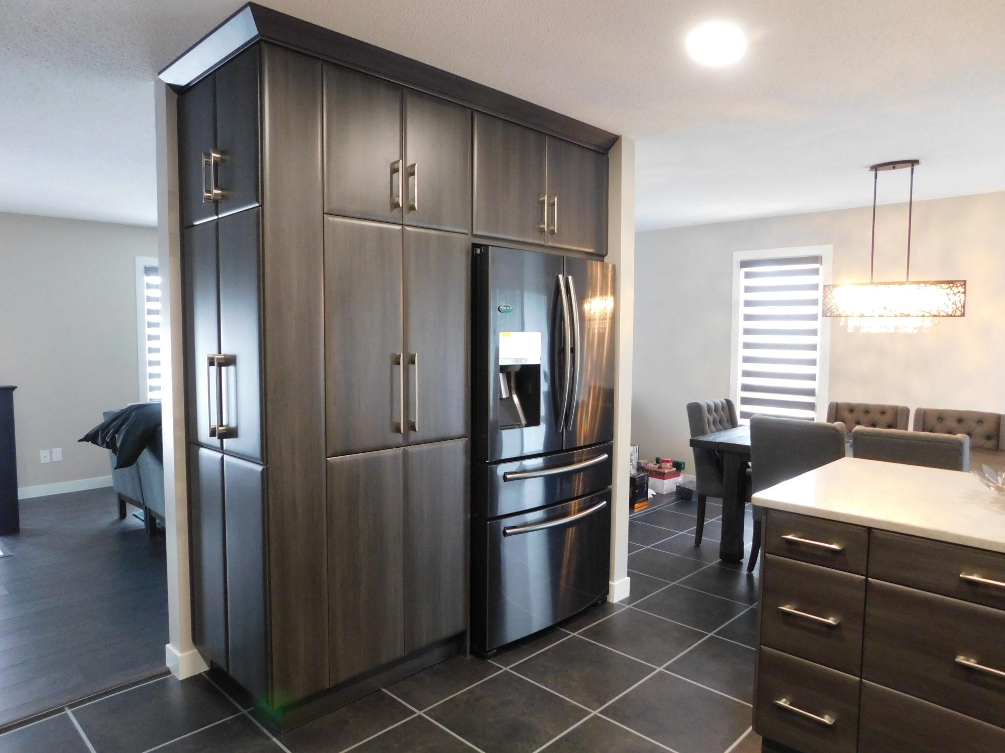 Sleek & Modern Charcoal Kitchen